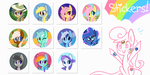 MLP Stickers! by Hollulu