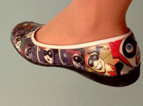Harley Quinn Shoes Detail by IneffableLexicon