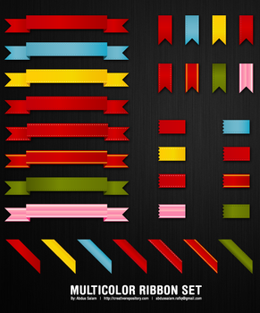 40 Multicolored Ribbons Set by Abdussalam