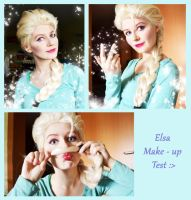 Elsa Frozen Make up test by IllumAdora
