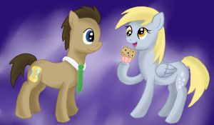 Derpy and the Doctor by WolfyOmega