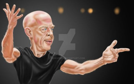 J.K.Simmons in 'Whiplash' by adavis57