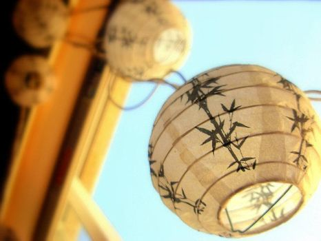lanterns in the sky by KuriKagome