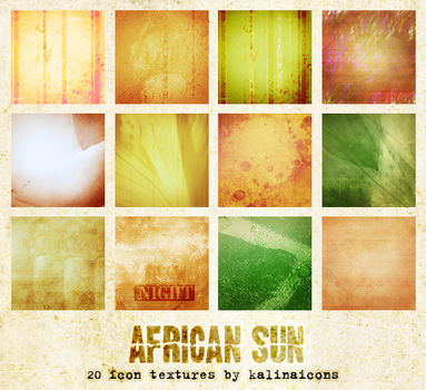 African Sun icon textures by kalinaicons