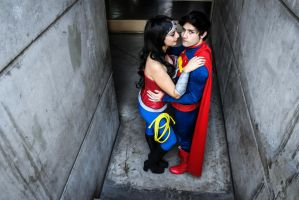 Wonder Woman and Superman new 52 by lordwosh