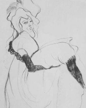 study : Toulouse - lautrec jane avril, 1893 by MrsBeastly