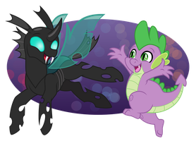Thorax and Spike by Overgrandmapowerlord