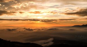The view above the fog by Gautama-Siddharta
