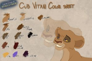 Cub Vitani color sheet by Takadk