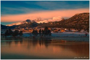 Sunrise In A Mountain Town by kkart