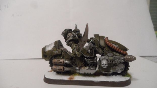 Nurgle Chaos biker with Melta-Gun  picture 2 by Dible