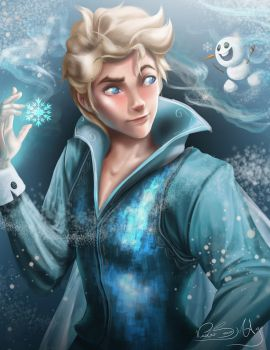 Male Elsa - Frozen by PedroMA26