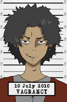 Mugen's Smirking Mugshot by virtualpapercut