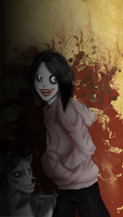 Jeff the killer and smile dog by Yukino5241