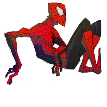 Spidey hangin' out by Nowler