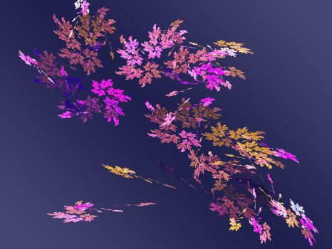 Flowers On Blue by Raggybabe