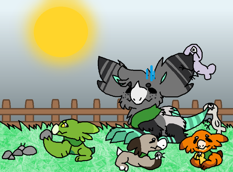 Pucko  and bug rocks by DisguiserKitty