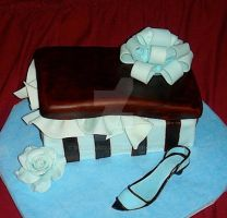 shoe box cake and sugar shoe by diullbar22