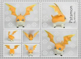Patamon plush:::::: by Witchiko