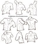 Male Torso Reference Sheet 2 by Kibbitzer