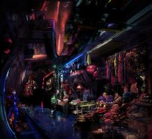 The Bazaar on Omega (Mass Effect) by Valfrika