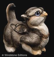 Crouching Griffin chick wolf by Reptangle