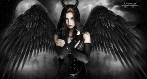 The funeral angel by annemaria48