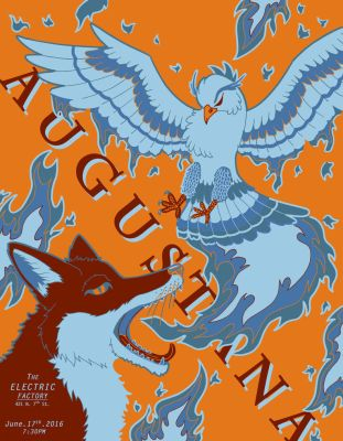 Augustana Gig Poster by MattOodles