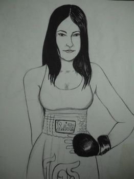 Sarah the fighter by Ferdy55Ilustrator