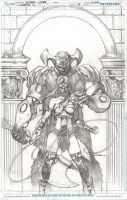 EARTH 2 issue 8 cover pencils by Cinar