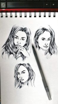 Faces Sketch by GabAroa