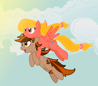 Fly Away : OCs Vanessa + Thea Cacao by Jen-neigh