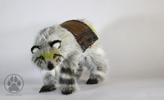 Kapeau the Yellow Tribe Bear poseable art doll by CreaturesofNat