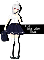 ||MMD|| TDA School Uniform Yowane Haku DOWNLOAD by x-MomoJuice-x