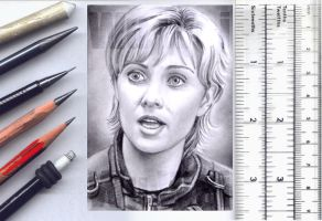 Stargate sketchcard by whu-wei