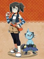 Trainer Kei and Dewott