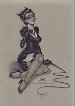 Bombshell Catwoman by em-scribbles