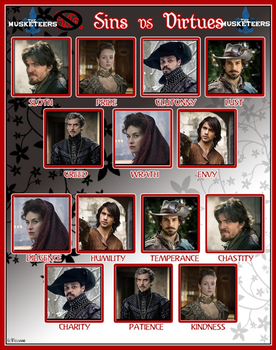 Sins vs Virtues - The Musketeers by spn-rules
