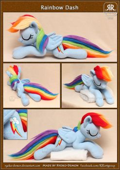 Sleeping Rainbow Dash by Ryoko-demon