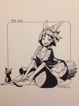 Inktober day #31: Kiki's Delivery Service by TimTam13