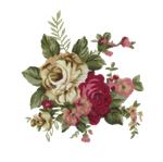 Vintage flower print stock by candy-lace-stock