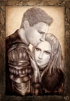 Dragon Age: Alistair and Sky by Isbjorg