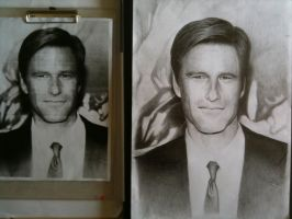 2d portrait drawing assignment by benskywalking