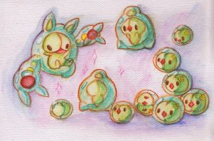 Reuniclus family by ishy-chan