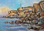 Coastline with Lighthouse by Art-deWhill