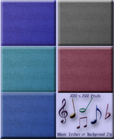 Music Texture - Background Zip by WDWParksGal-Stock