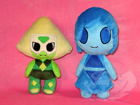 Peridot and Lapis by FeatherStitched