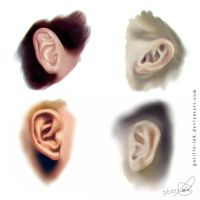 Photorealistic Ear Study by goRillA-iNK