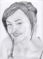 Briana Evigan Drawing Scanned by MickeyTheSaviour
