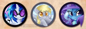 More Pony Buttons by gabapple